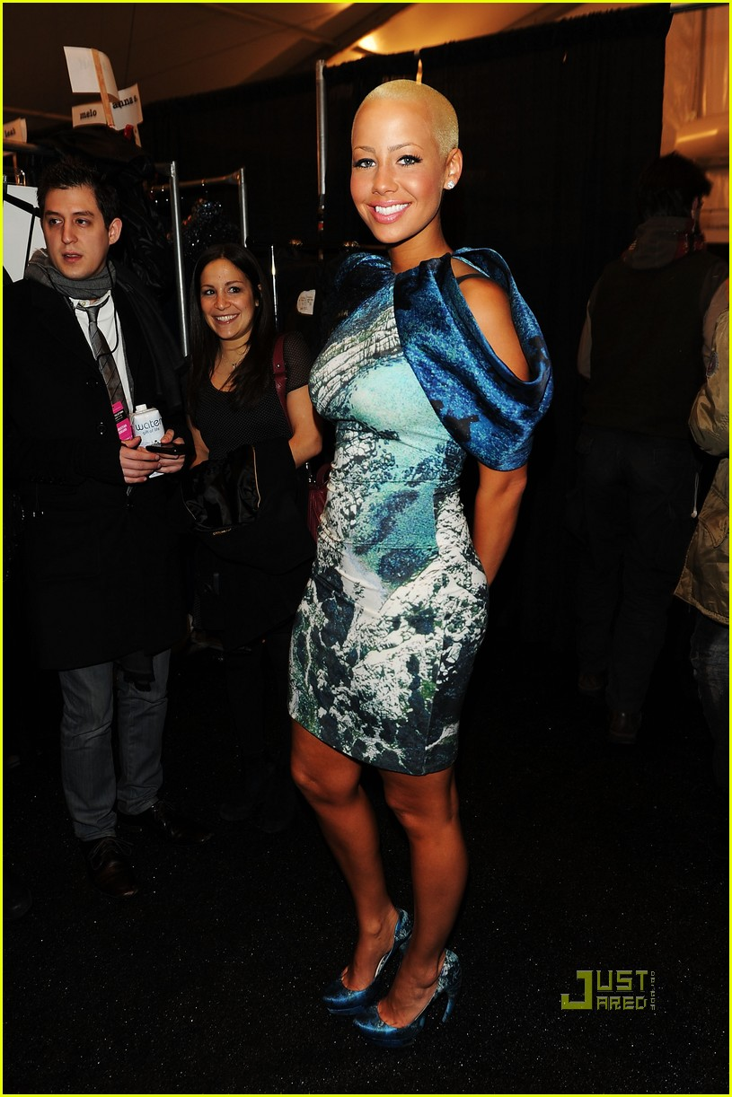 amber rose christian siriano new york fashion week 01