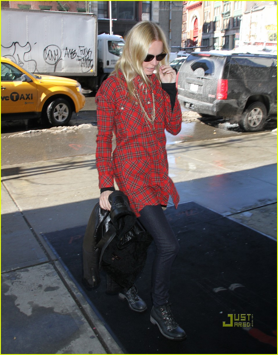 kate bosworth plaid shirt nyc 01