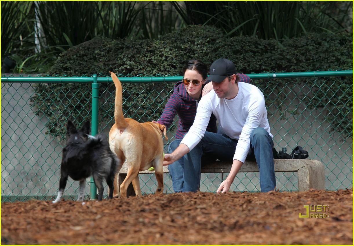john krasinski emily blunt dog park 032429159