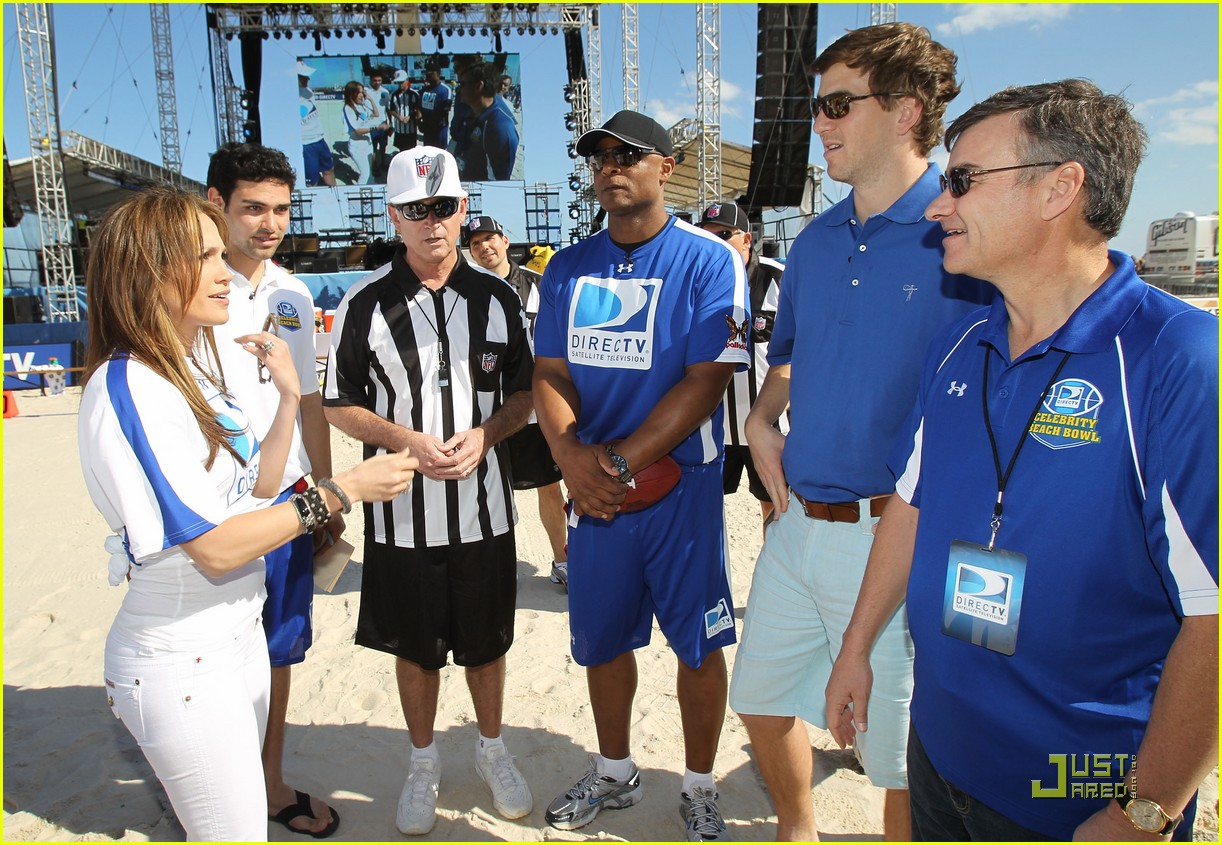 jennifer lopez directv celebrity beach bowl 40