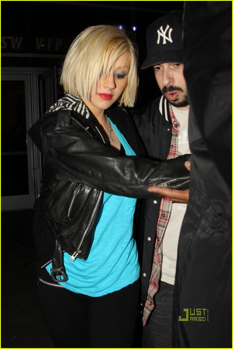 christina aguilera jessica alba jay z concert 03