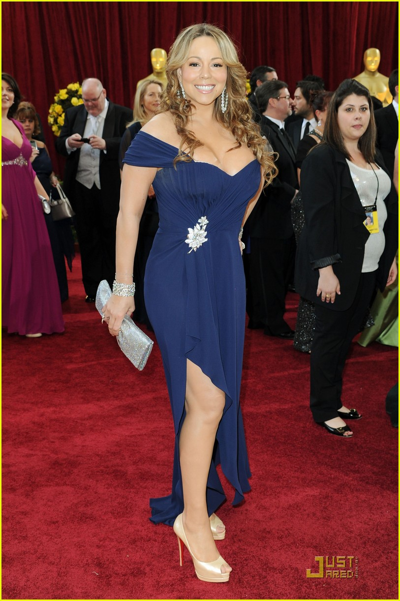 mariah carey nick cannon oscars 2010 red carpet 15