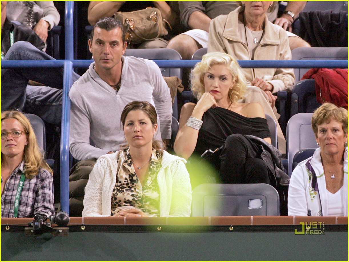 gwen stefani gavin rossdale roger federer tennis match 03