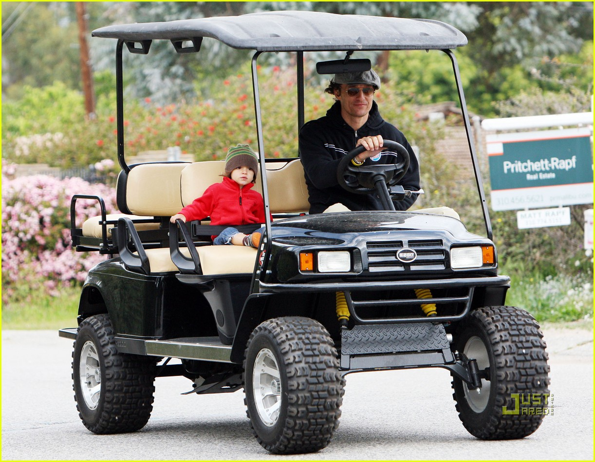 levi matthew mcconaughey golf cart 12
