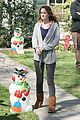 leighton meester oranges christmas 07