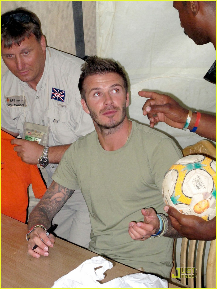 david beckham boosts british troop morale 06