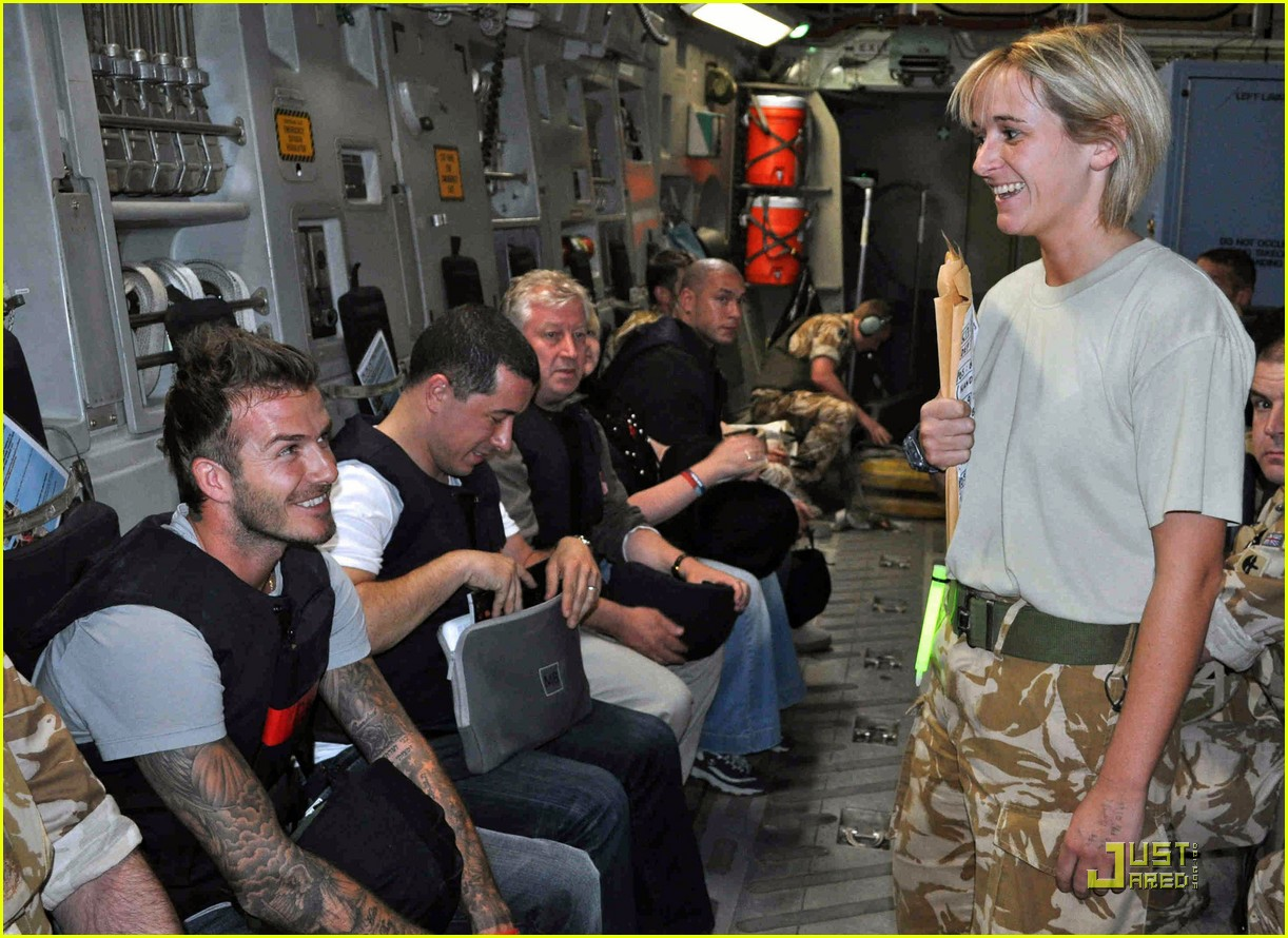 david beckham boosts british troop morale 09