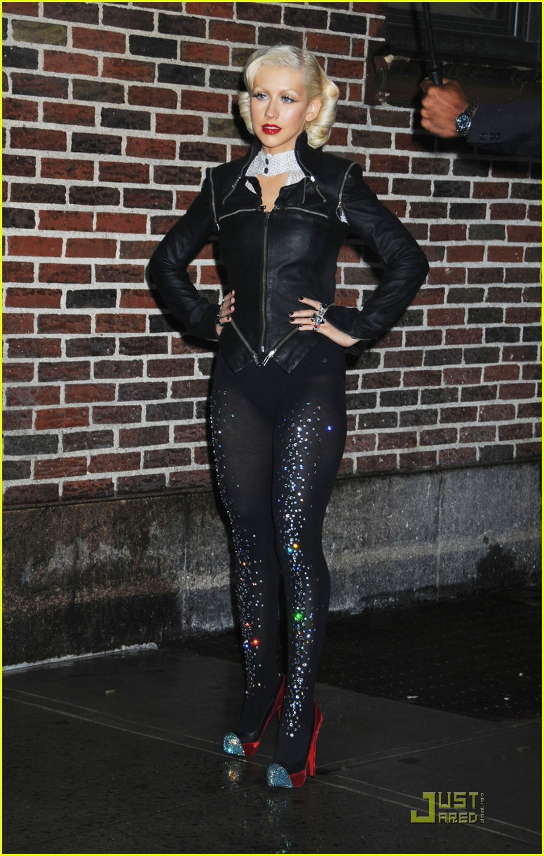 christina aguilera lost letterman 102457647