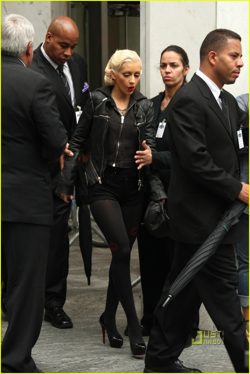 christina aguilera see through trench coat 08
