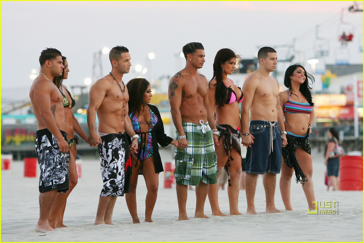 jersey shore cast beach photo shoot 15
