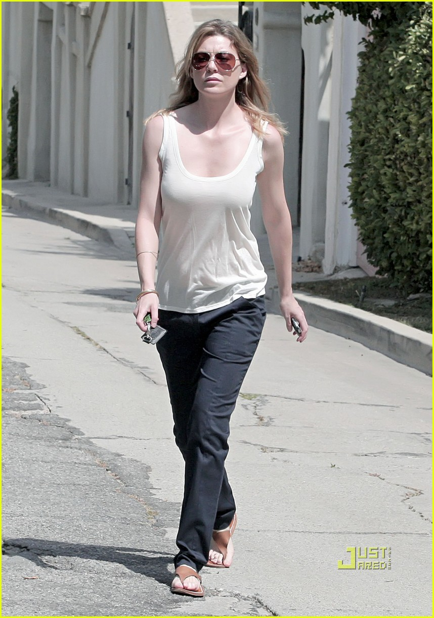 Full Sized Photo Of Ellen Pompeo Tank Top Aviators 04