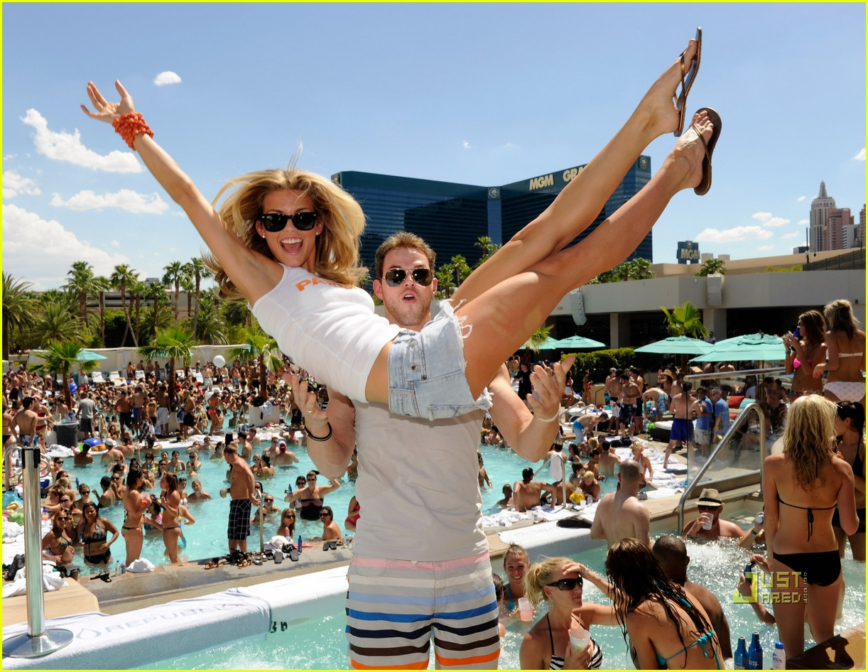 annalynne mccord birthday pool party kellan lutz 01