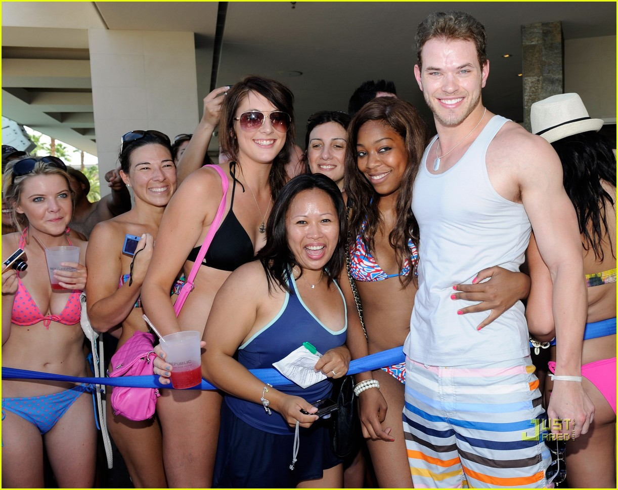 full sized photo of annalynne mccord birthday pool party kellan lutz
