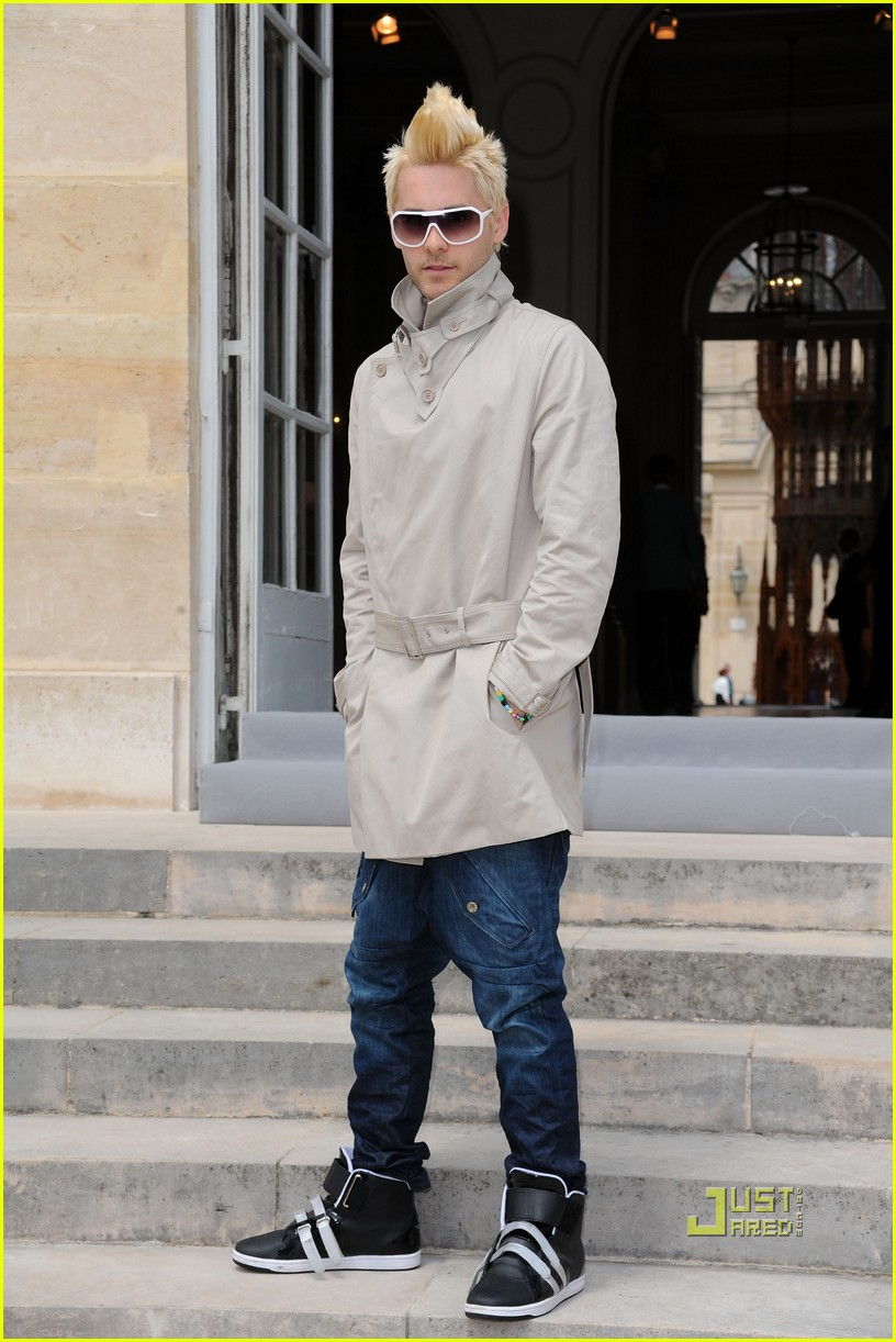 jared leto blonde mowhawk christian dior 03