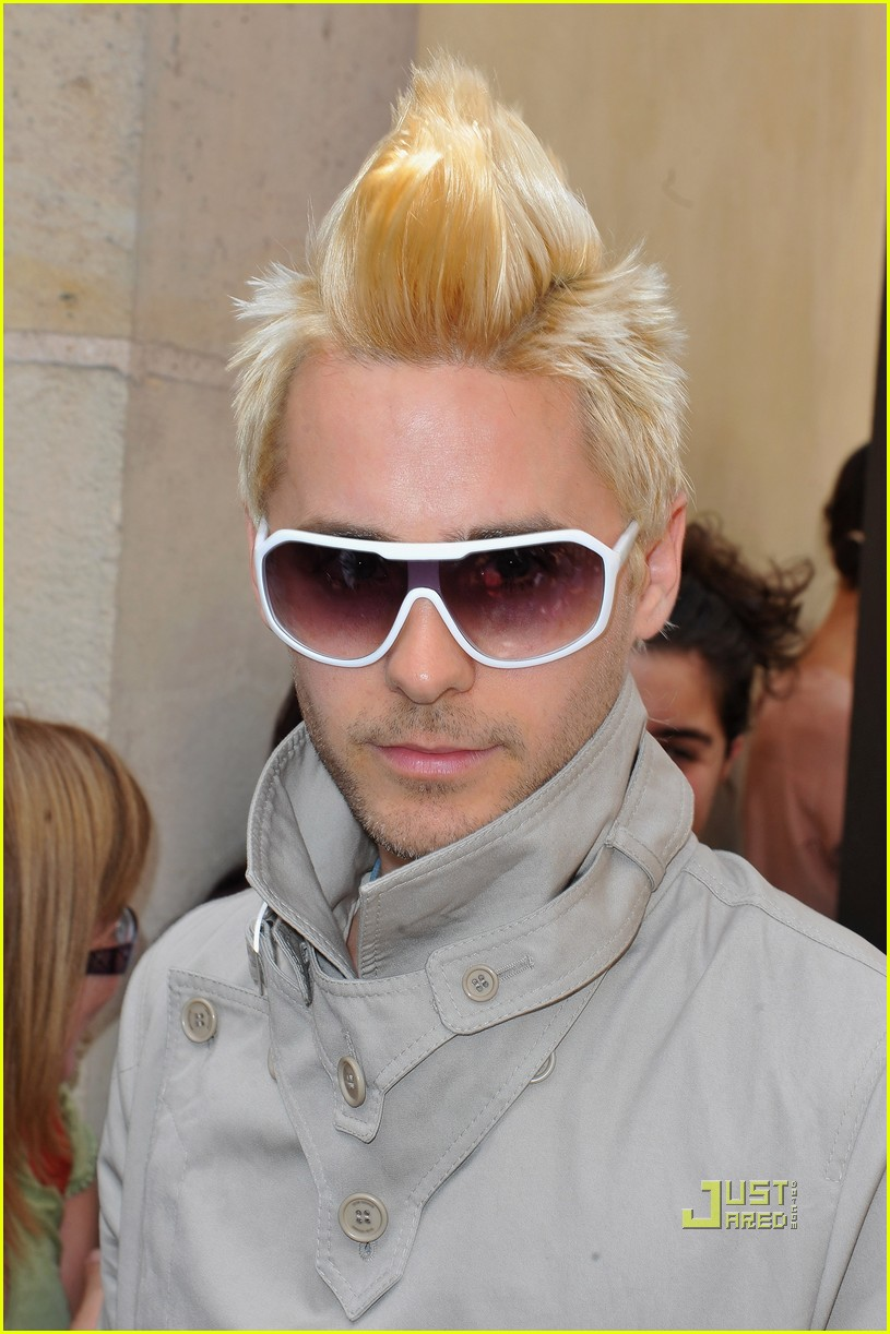 jared leto blonde mowhawk christian dior 10