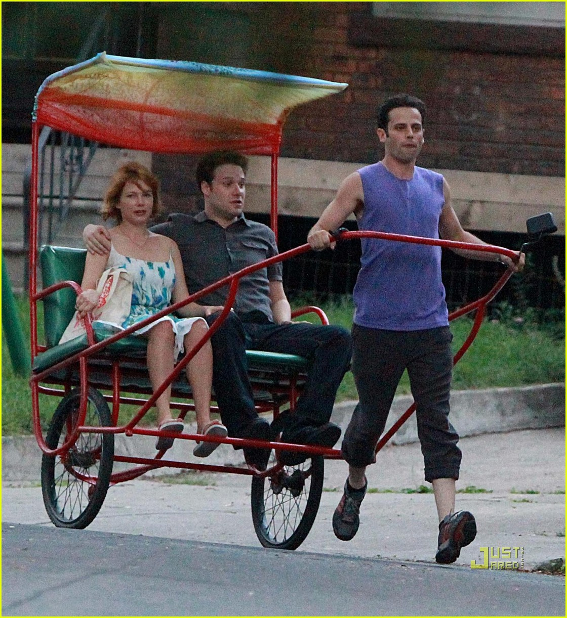 michelle williams seth rogen rickshaw 02