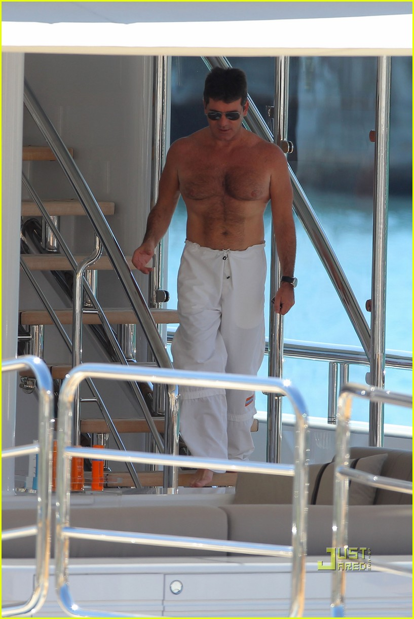 simon cowell chest hair 162471878