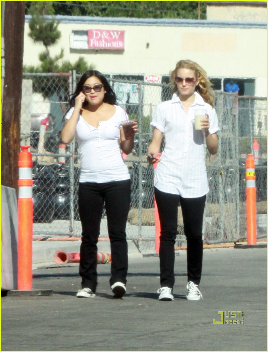 Lea Michele & Mark Salling: Biking and Boarding!: Photo ...