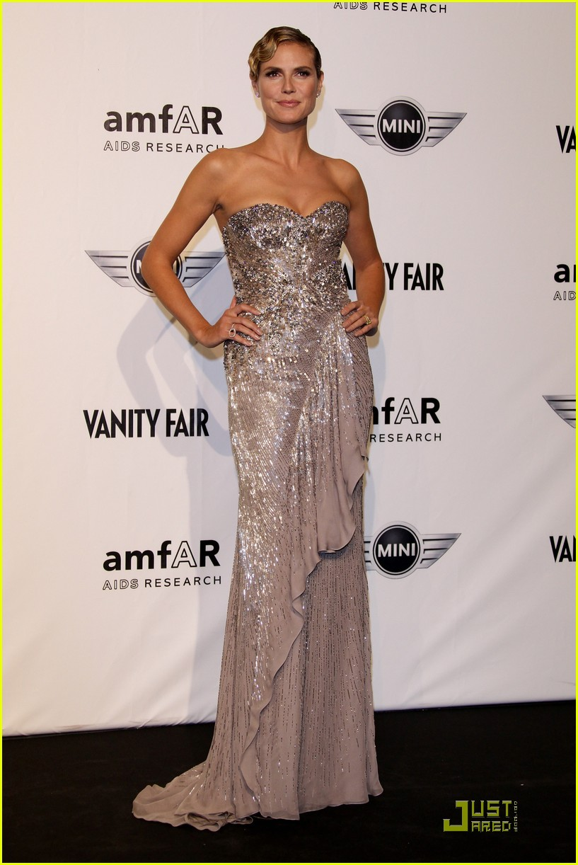 heidi klum amfar milano at milan fashion week 13