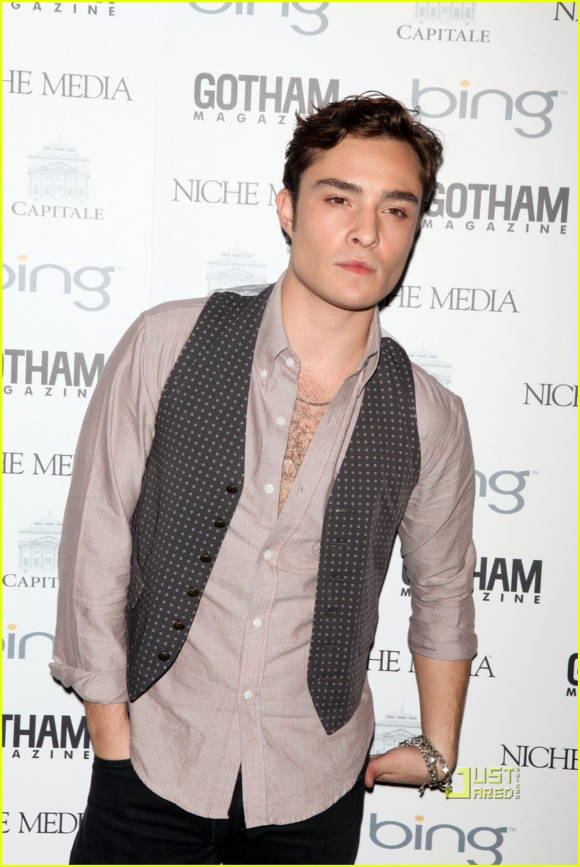 Full Sized Photo of penn badgley ed westwick nyc party pals 07 | Photo ... Ed Westwick