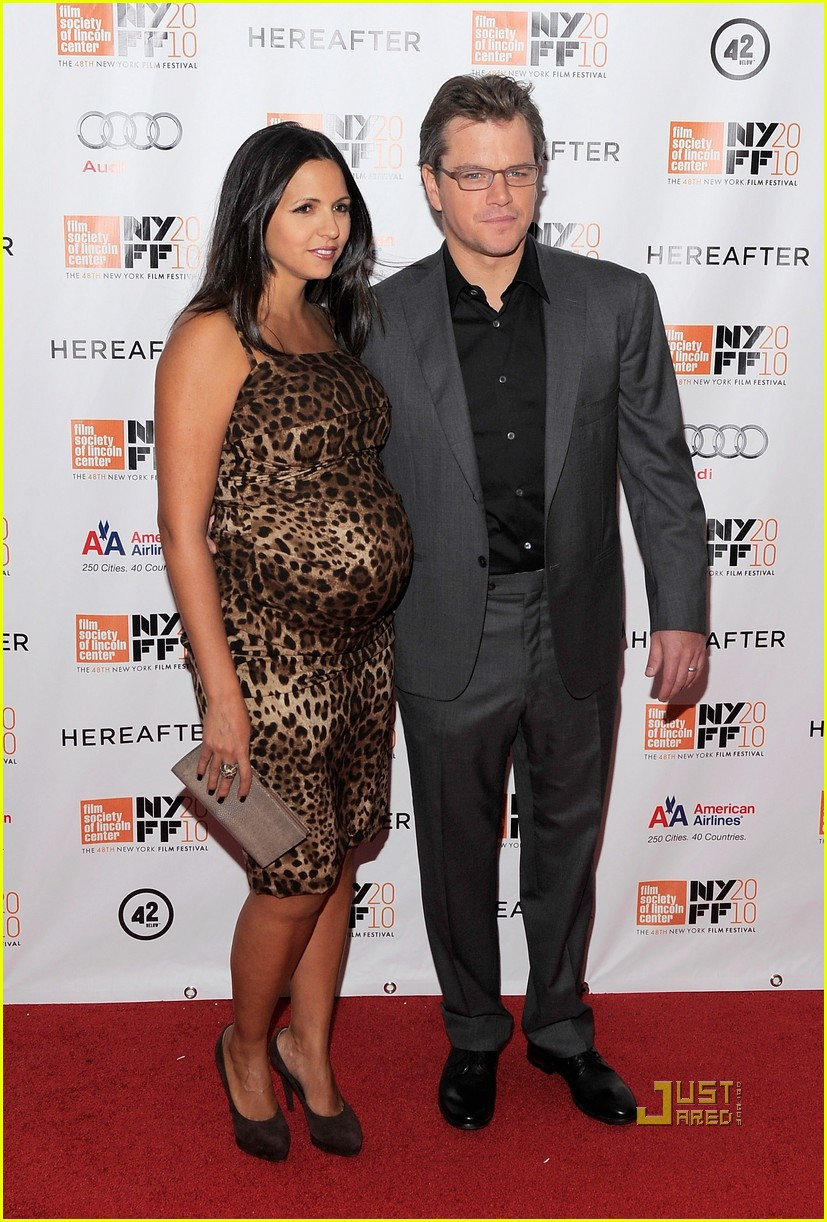 matt damon hereafter premiere with luciana 022486518