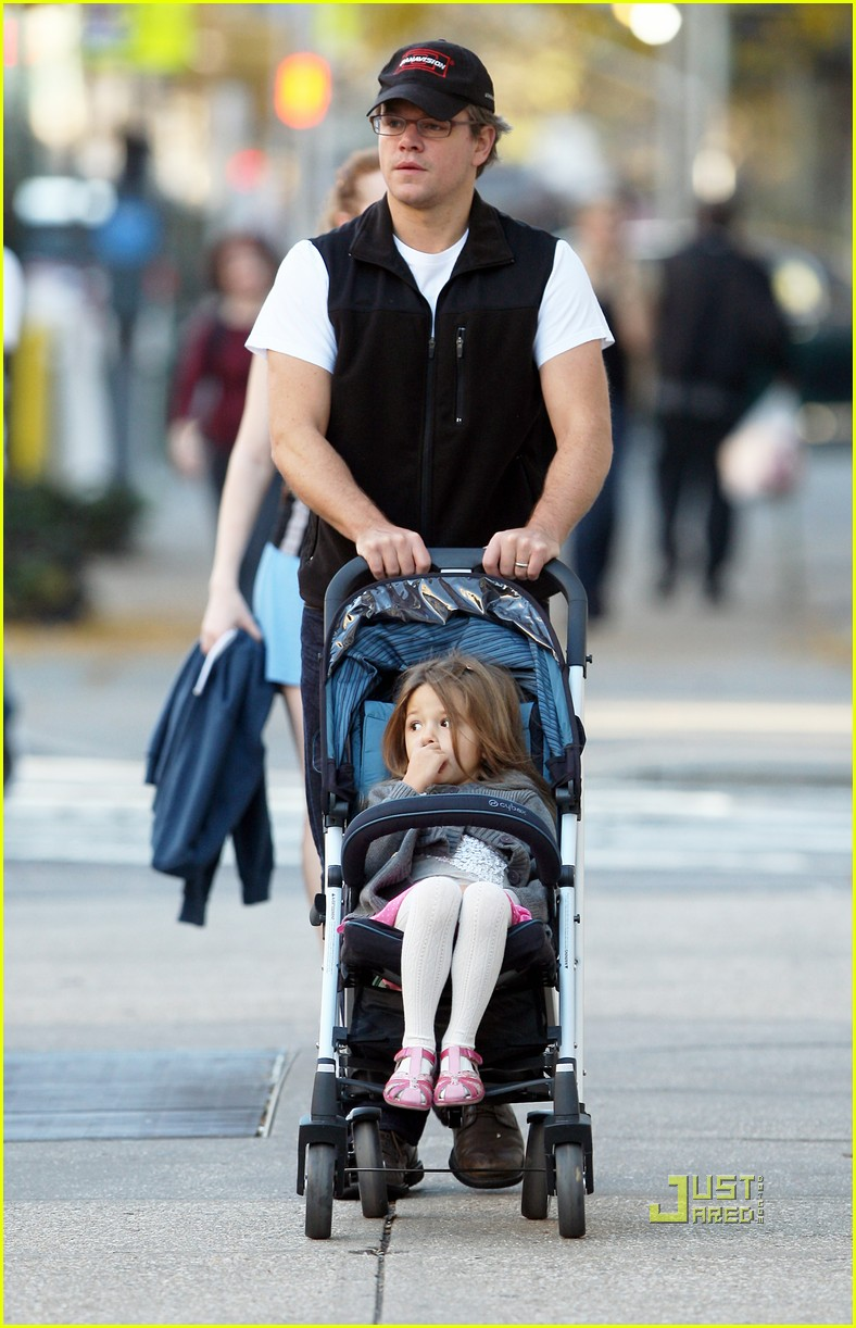 matt damon east village stroll with isabella 012491328