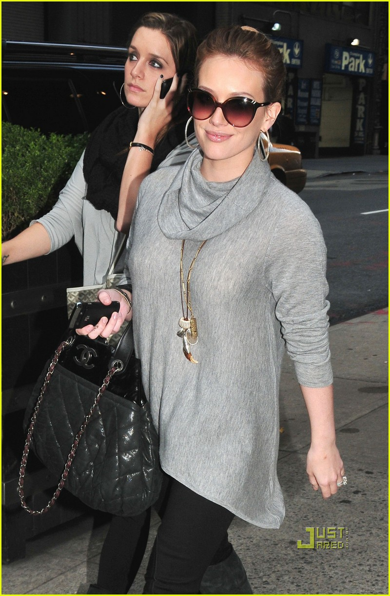 hilary duff leaves hotel nyc 022487220