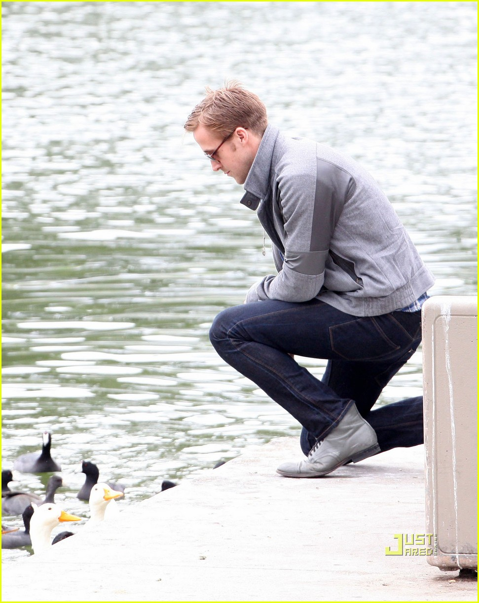 Carey Mulligan & Ryan Gosling Feed Ducks on \'Drive\' Set: Photo ...