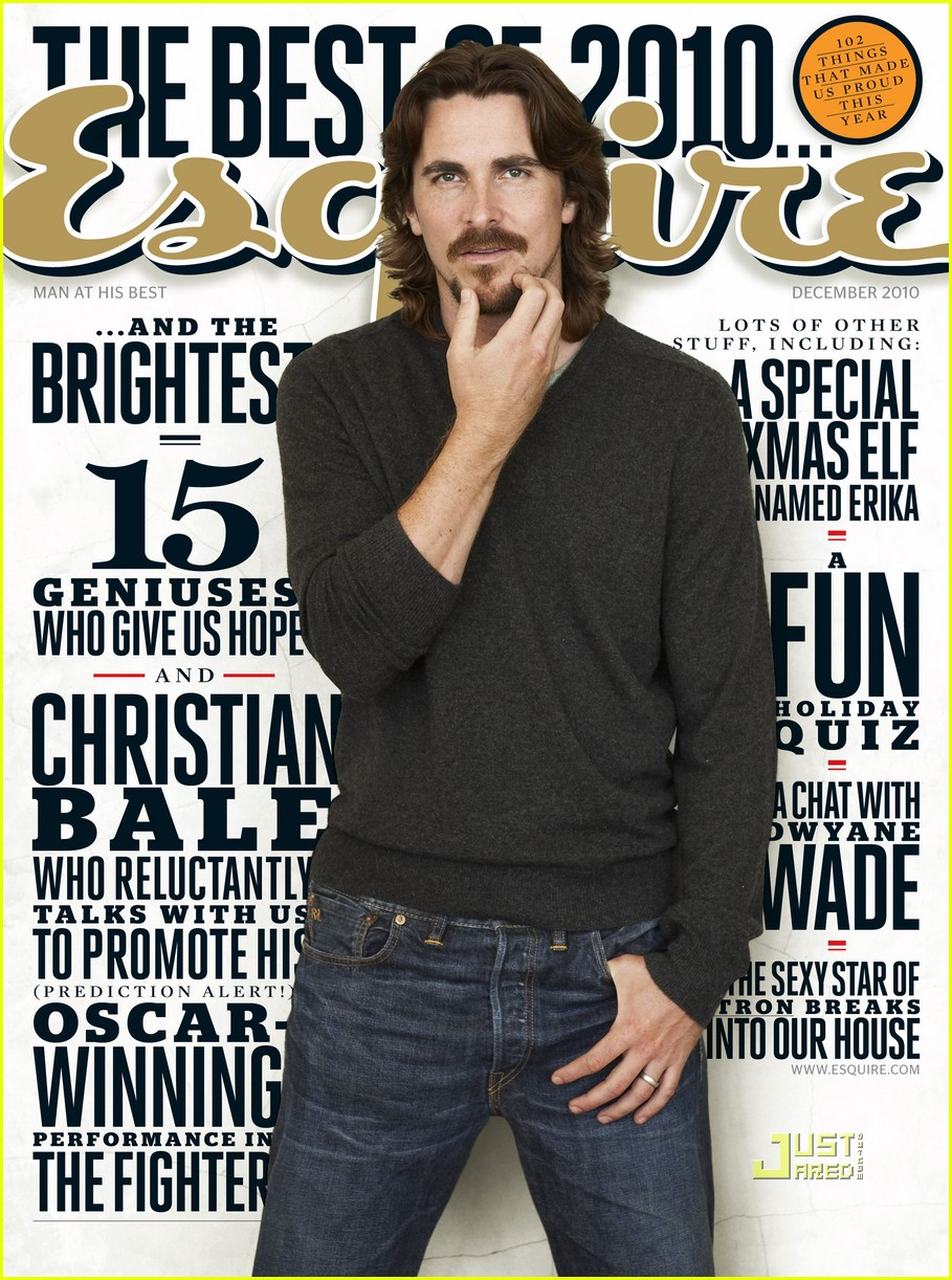 Christian Bale Covers 'Esquire' December 2010: Photo ...