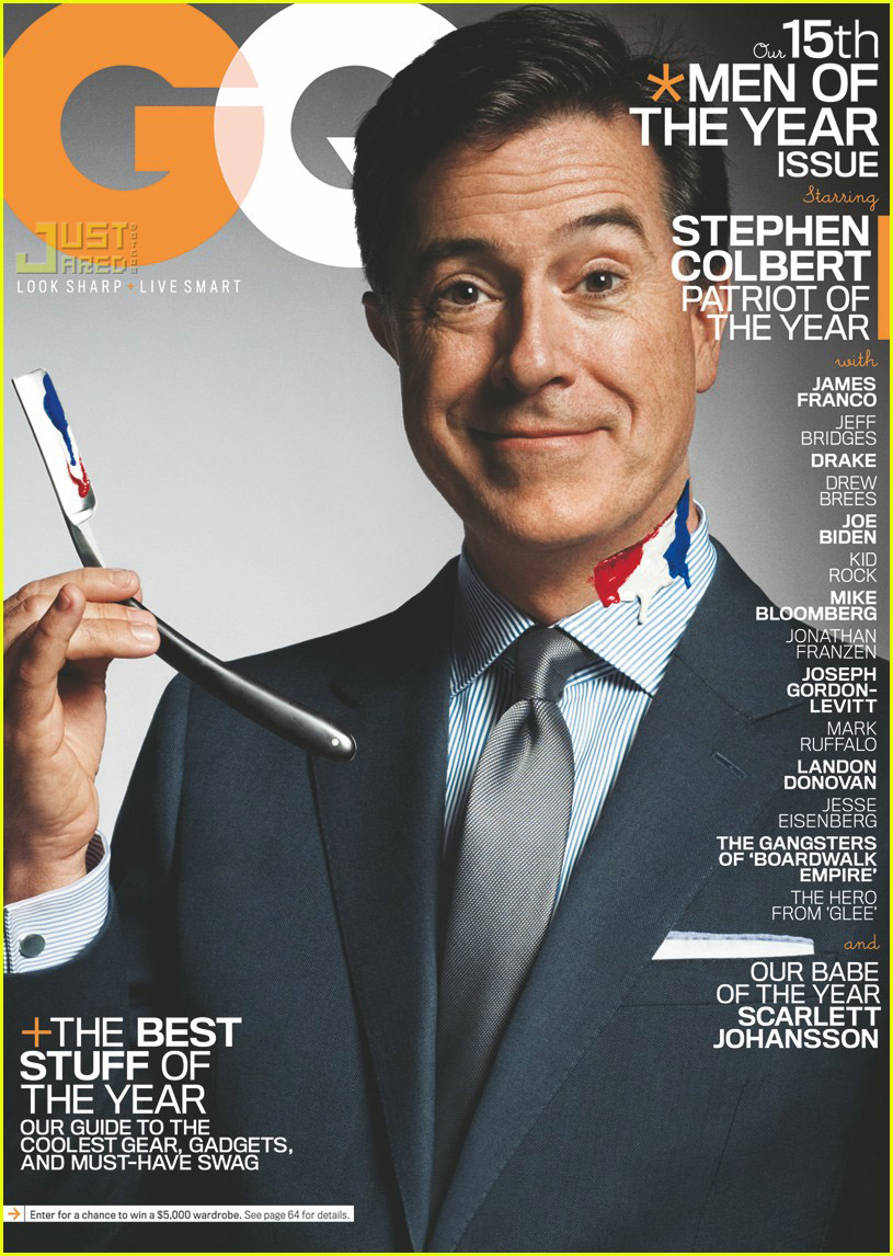 stephen colbert gq december 2010