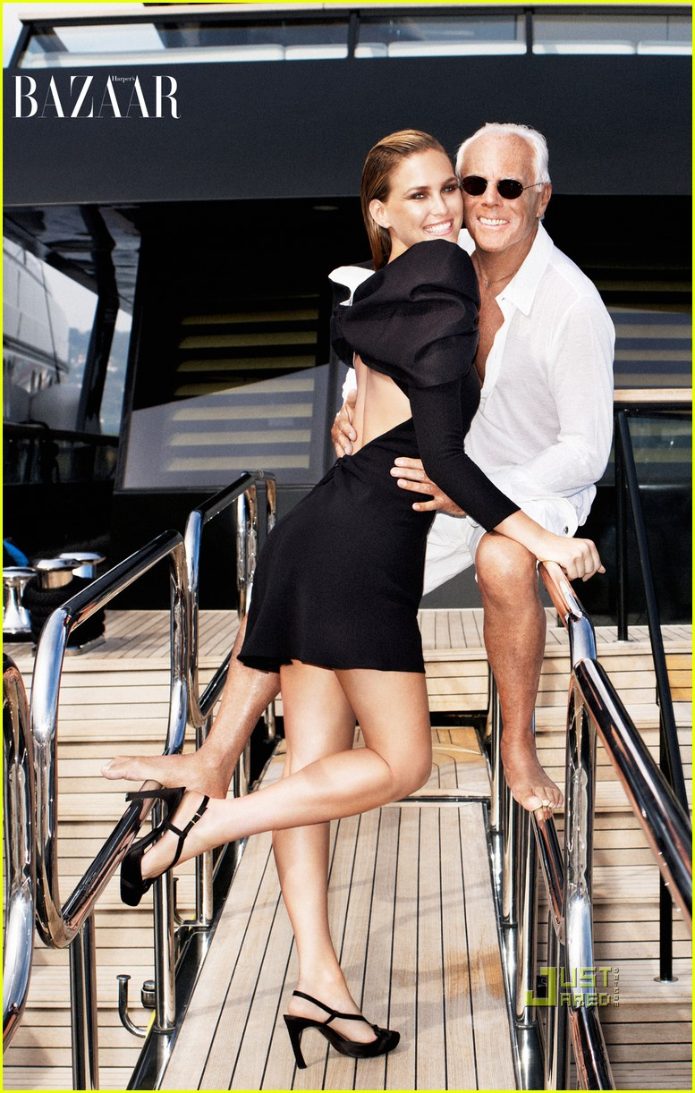 Full Sized Photo of bar refaeli giorgio armani harpers ... Bar Refaeli Pregnant