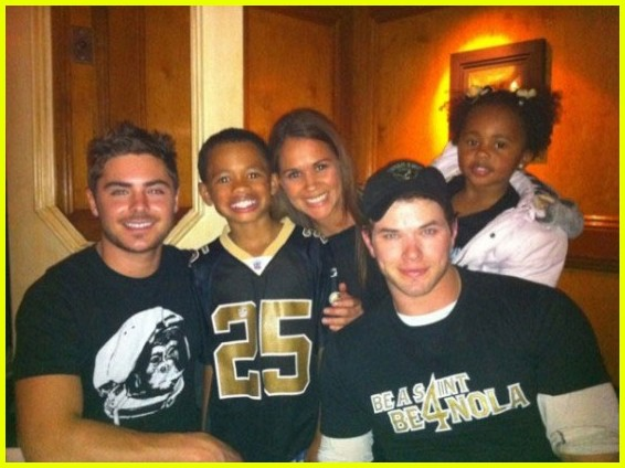 kellan lutz zac efron saints game