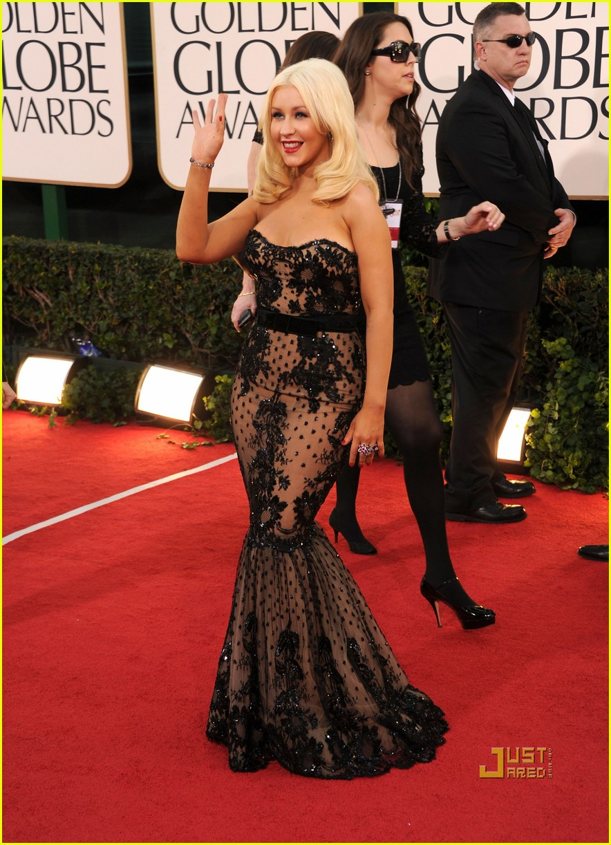 christina aguilera 2011 golden globes 05