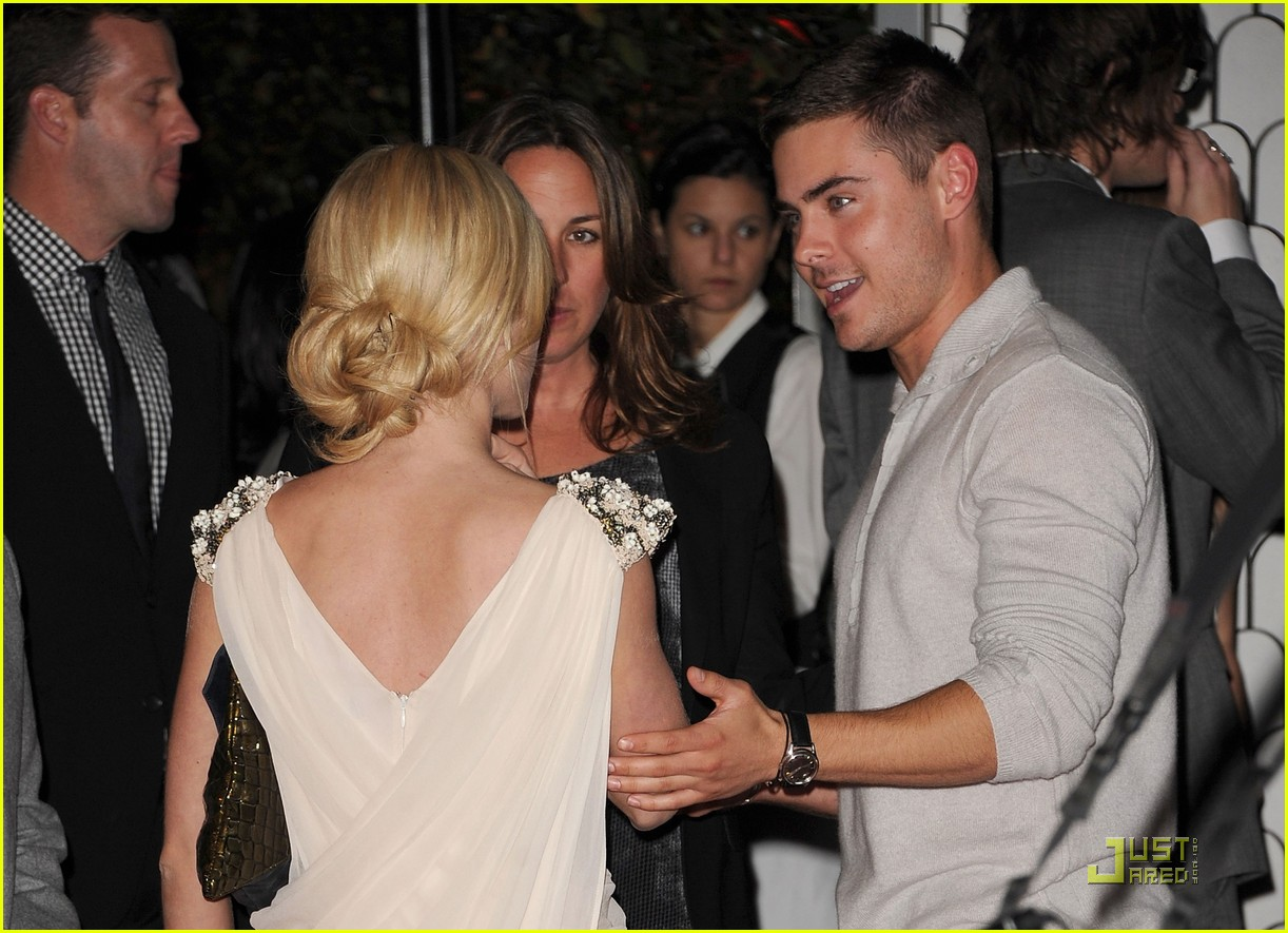 zac efron brittany snow audi golden globe party 08