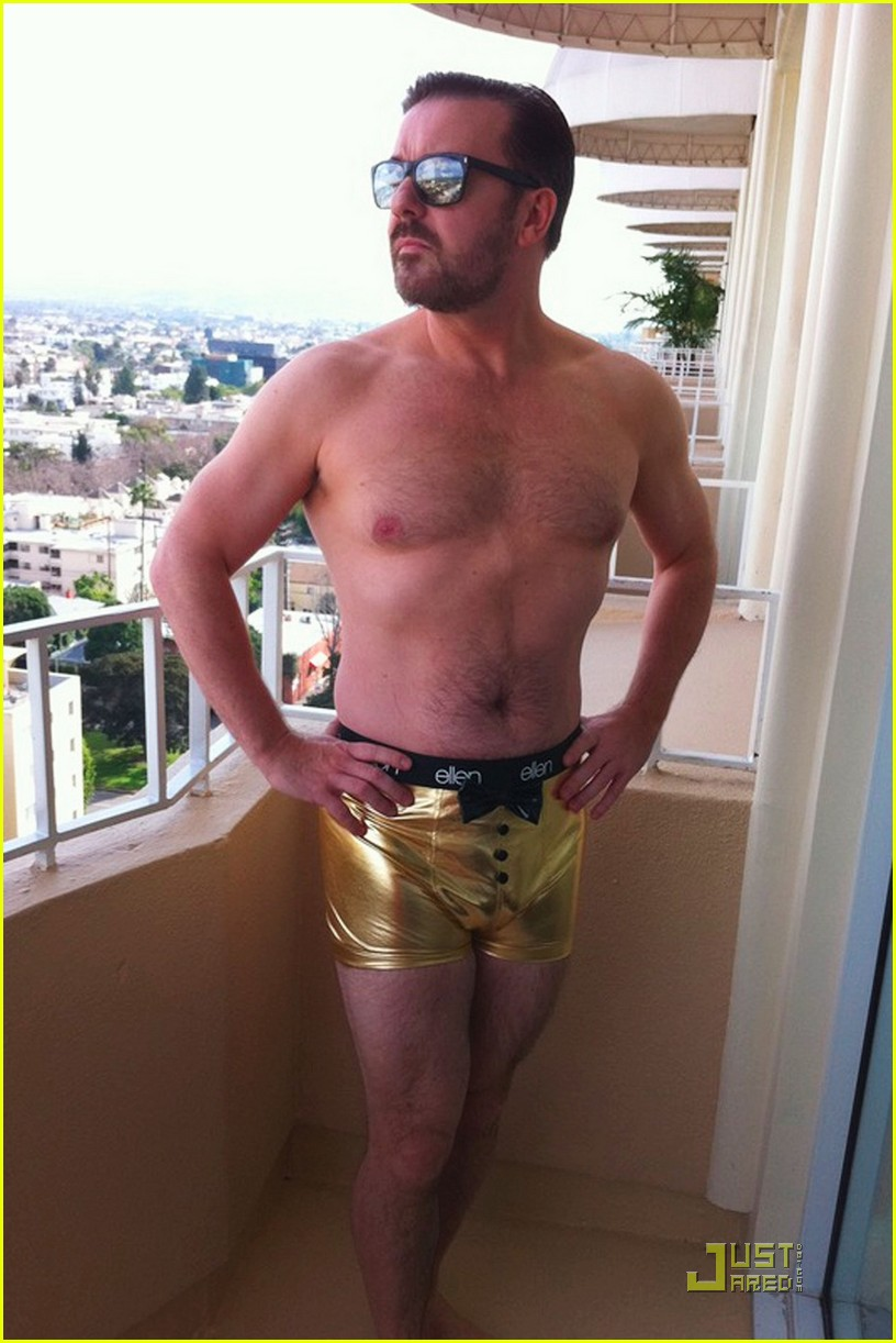 ricky gervais gold underwear 012512659