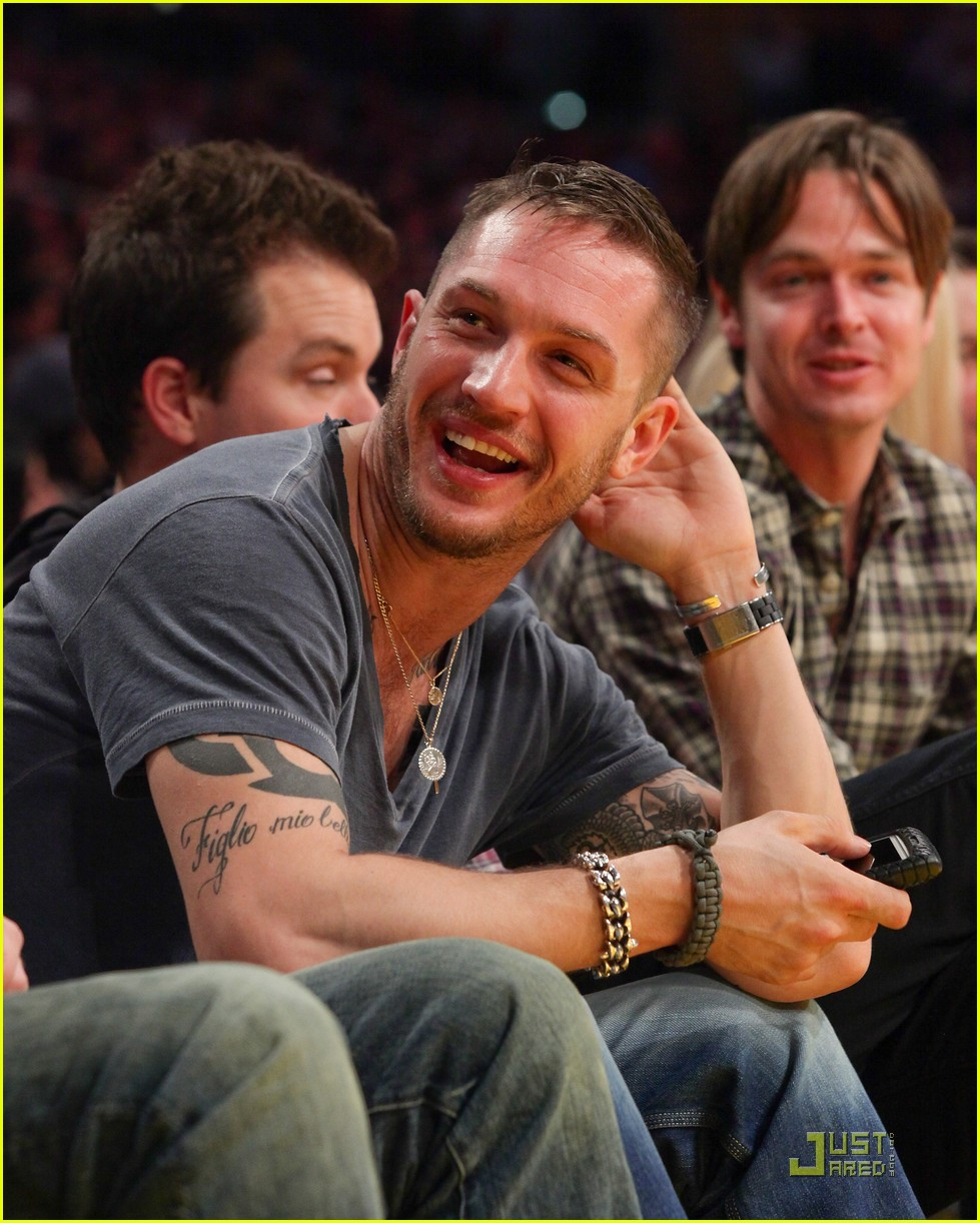 tom hardy lakers laughter 03
