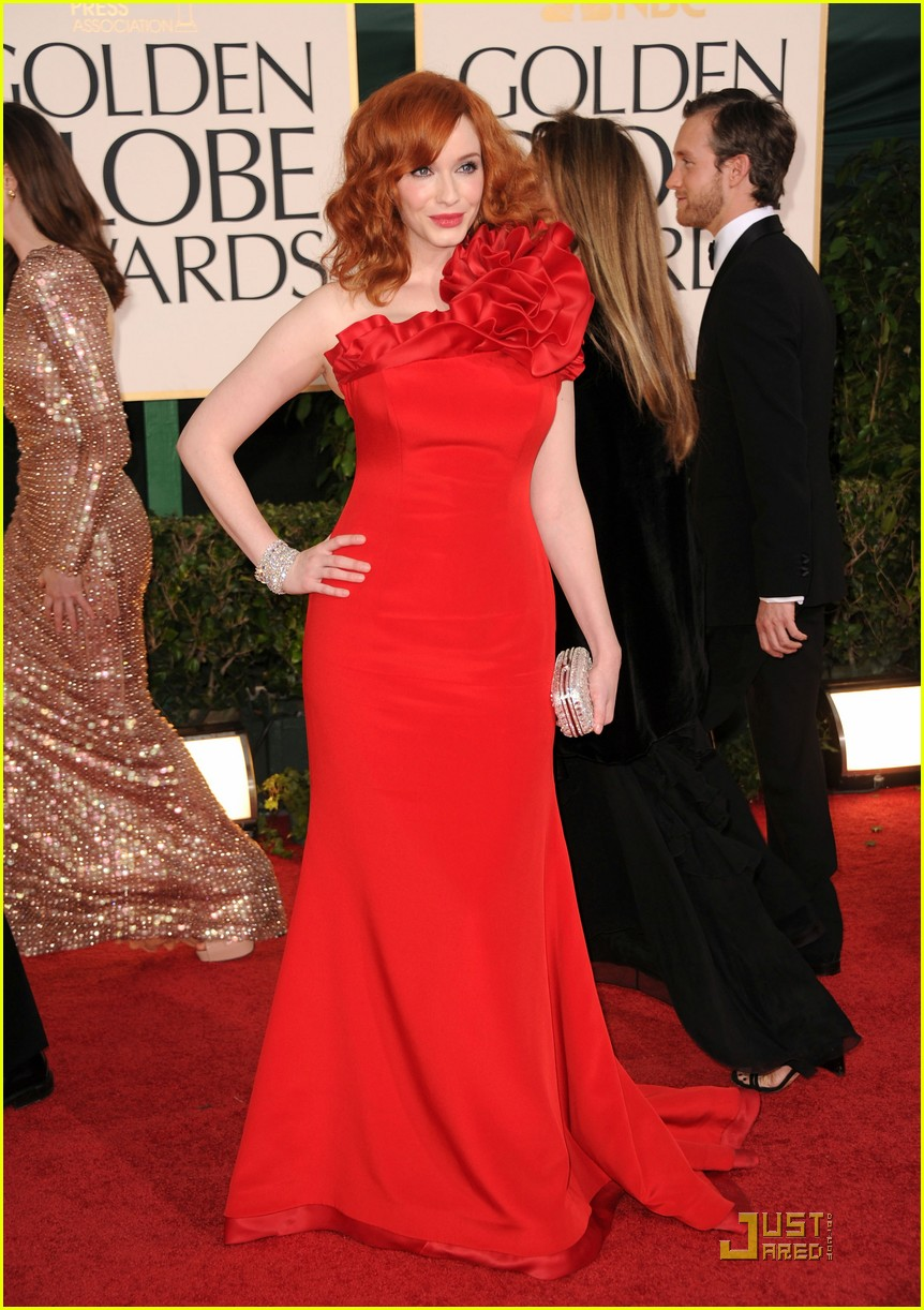 christina hendricks golden globes 05