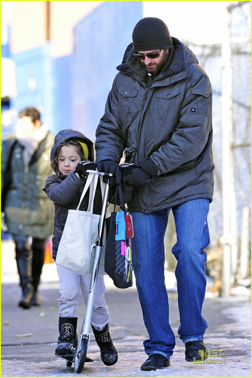 hugh jackman after school fun with ava 062514261