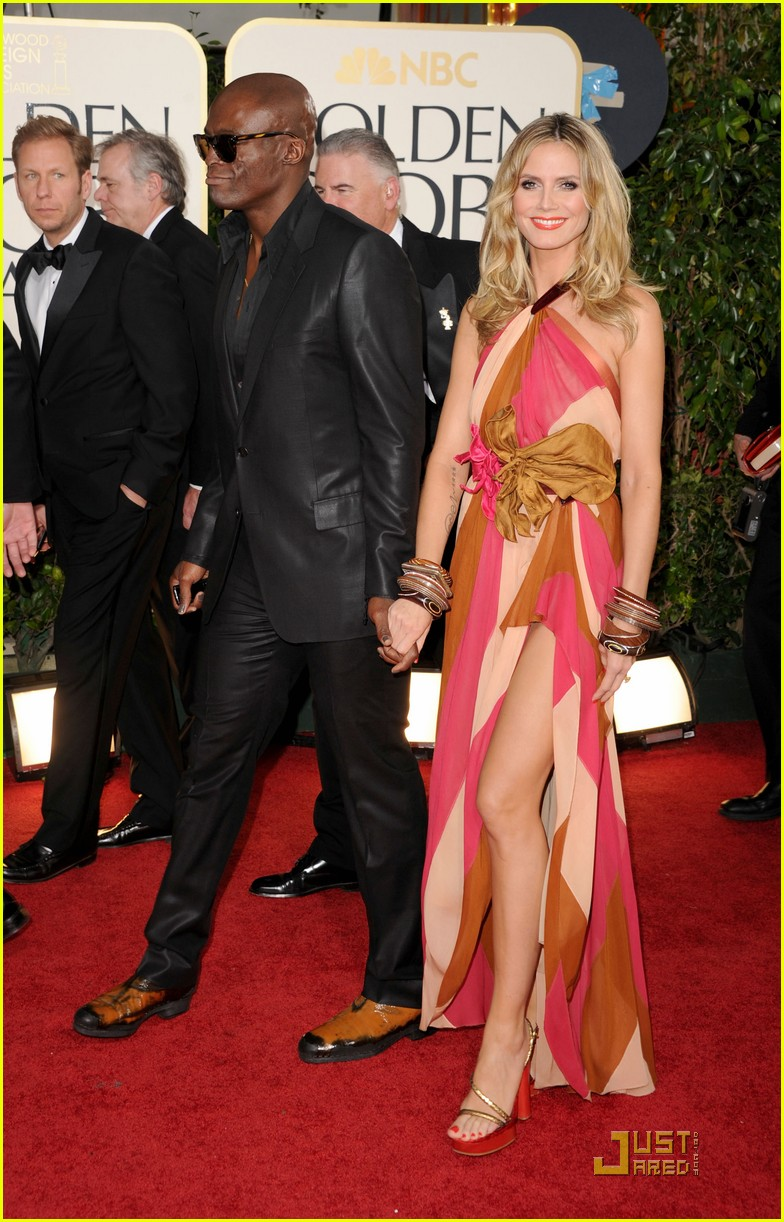 heidi klum seal golden globes 04