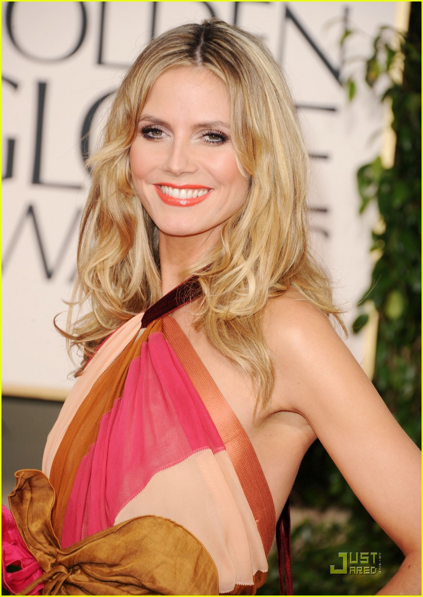 heidi klum seal golden globes 10