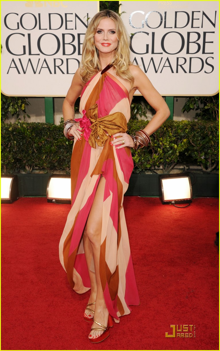 heidi klum seal golden globes 19