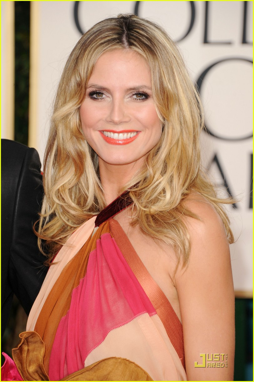 heidi klum seal golden globes 20