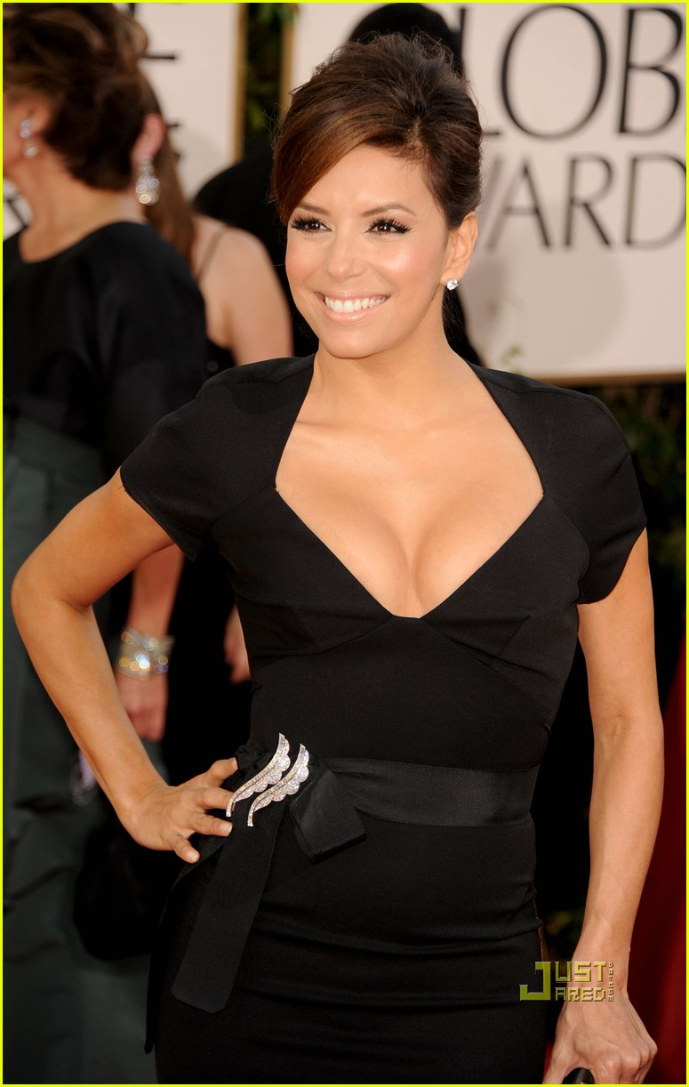 eva longoria 2011 golden globes red carpet 01