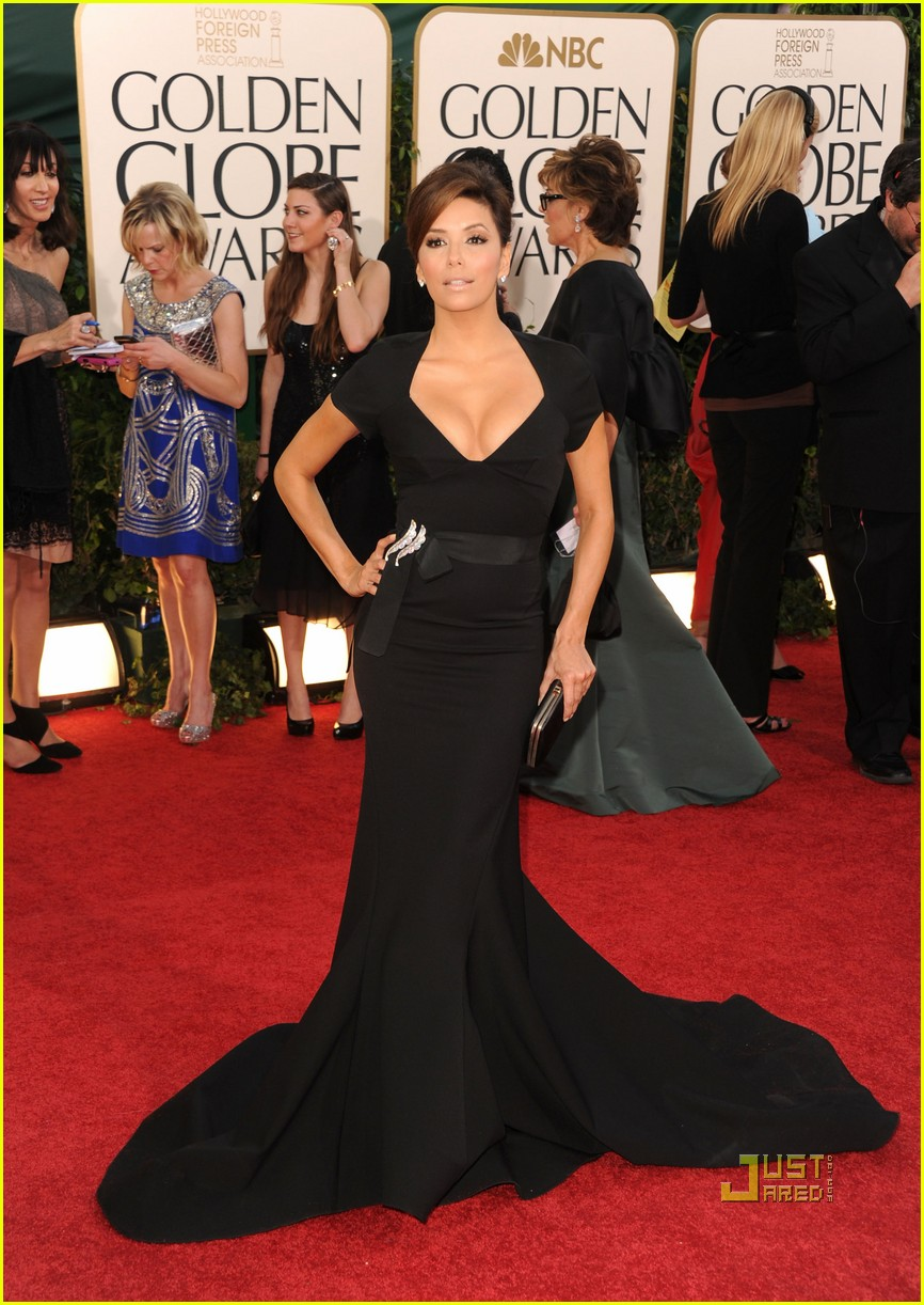 eva longoria 2011 golden globes red carpet 03