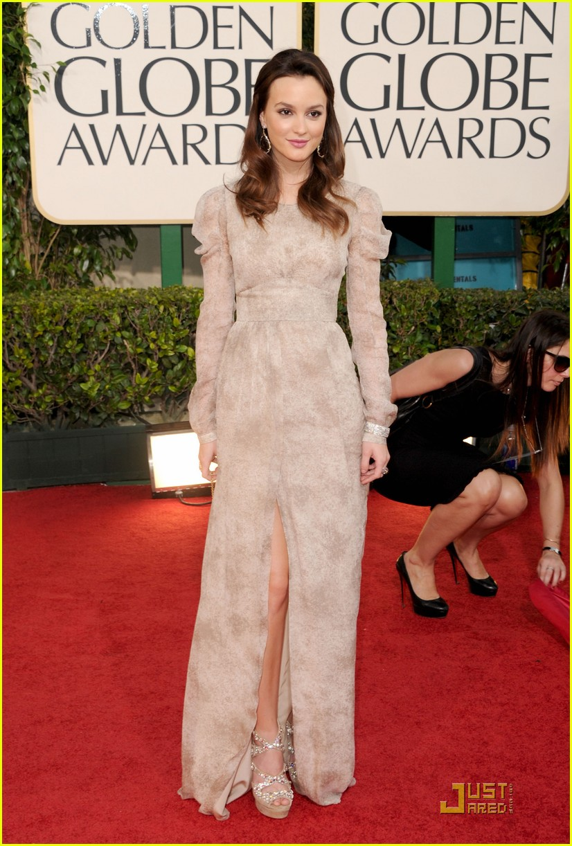leighton meester red carpet dresses