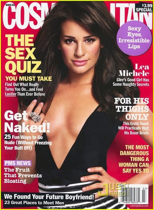 lea michele cosmopolitan cover