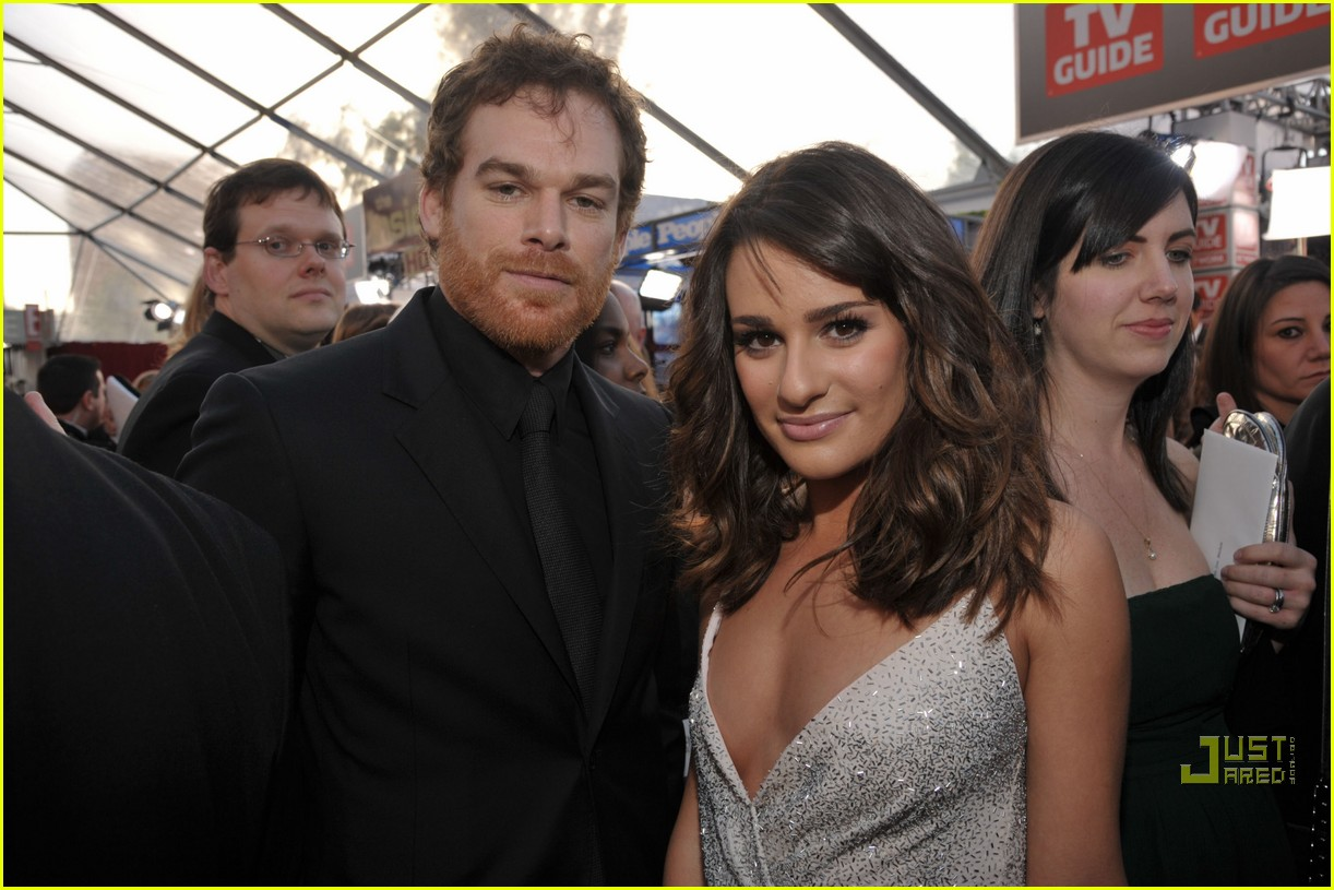 michael c hall lea michele julia stiles sag awards 2011 012515594