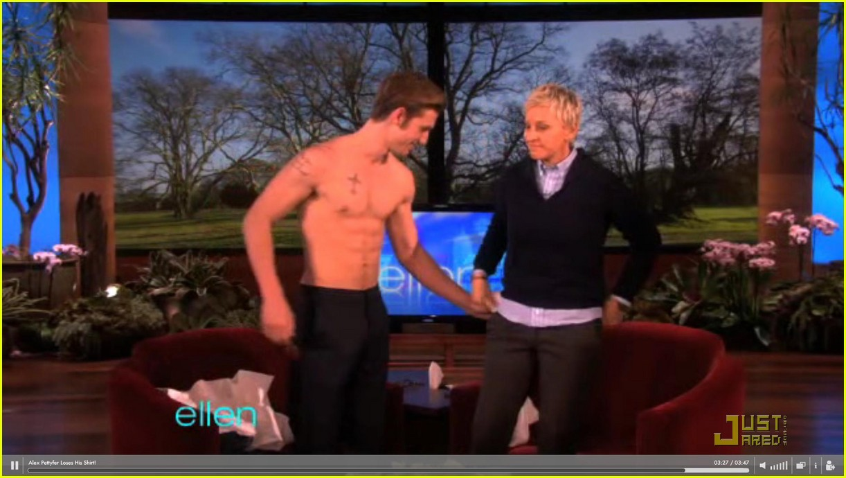 alex pettyfer loses his shirt for ellen 02