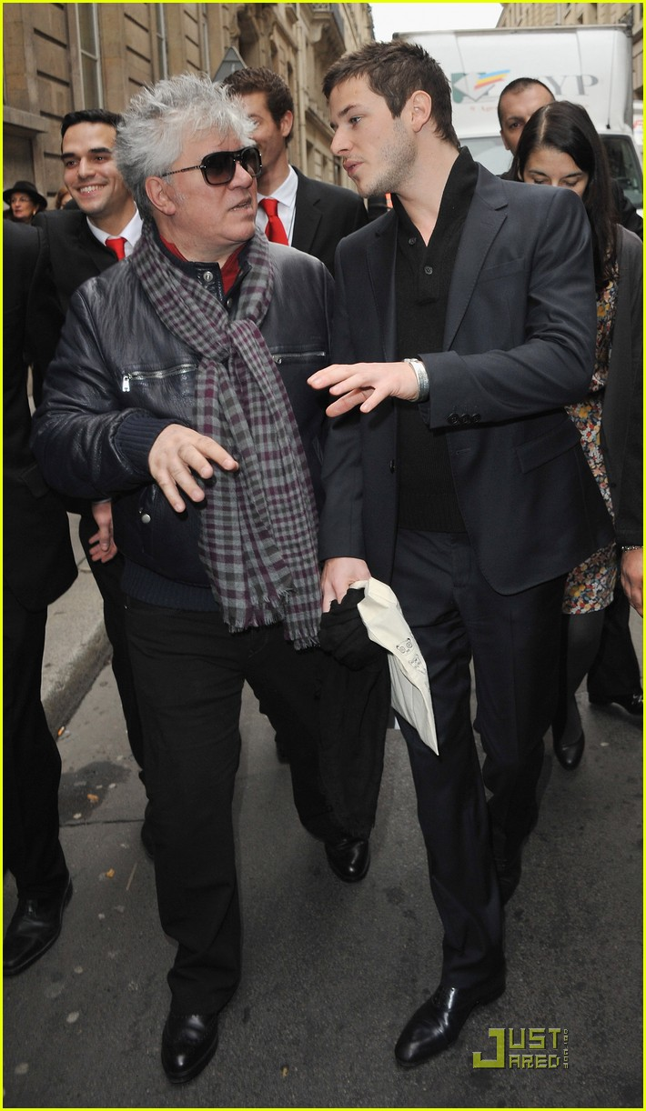 Photo of Gaspard Ulliel & his friend director  Pedro Almodovar - United States