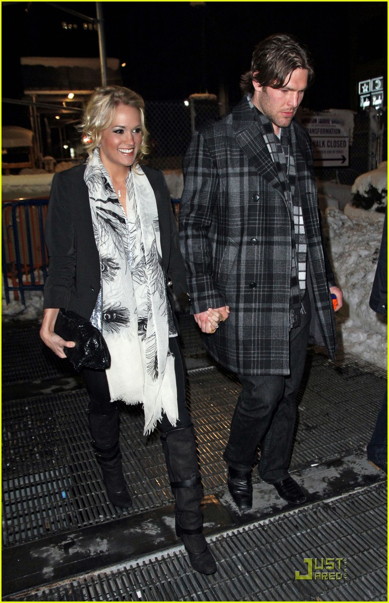 carrie underwood mike fisher knicks game nyc 01